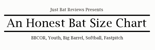 honest bat size chart