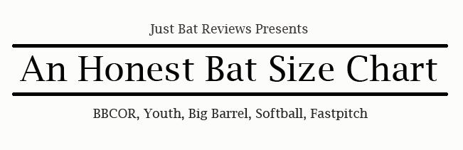 Honest Bat Size Chart   BBCOR, Youth & Big Barrel, Fastpitch   JBR