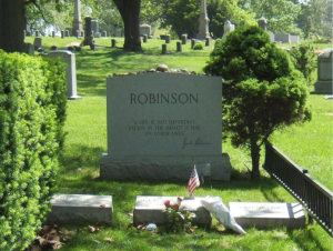 Gravestones of Great Baseball Players