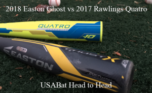Easton Ghost X vs Rawlings Quatro | Exit Velo Data