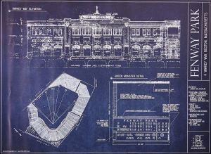 Gifts For Baseball Blue Prints