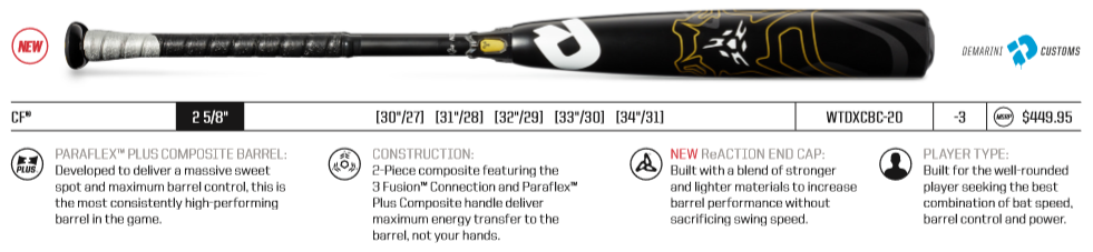 2020 DeMarini CF BBCOR Review