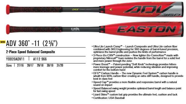 2020 Easton ADV 360 USA Review
