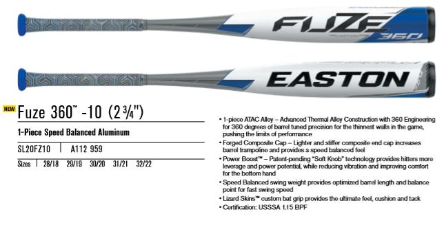 2020 Easton Fuze 360 USSSA Review