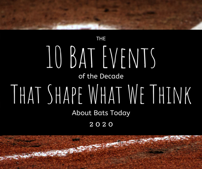 Top 10 Bat Events of the Decade
